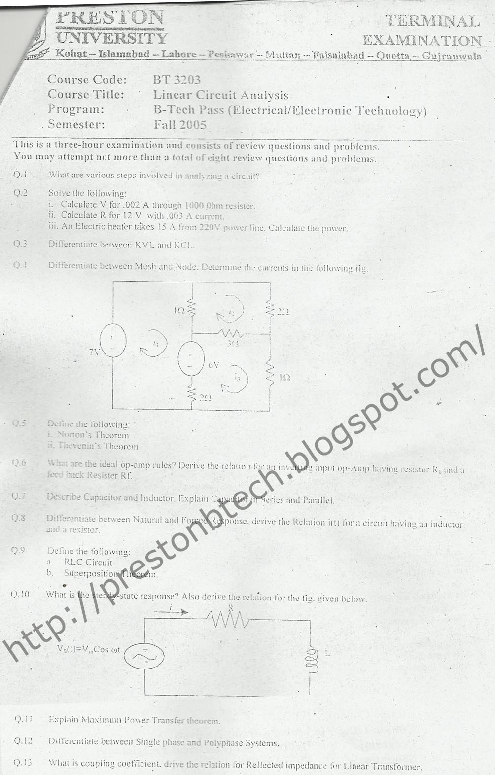 electrical engineering circuit analysis foundations of circuit