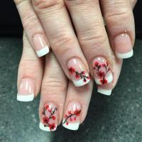 Latest Cherry Blossom Nail Art Designs Ideas 2017 - Styles Art