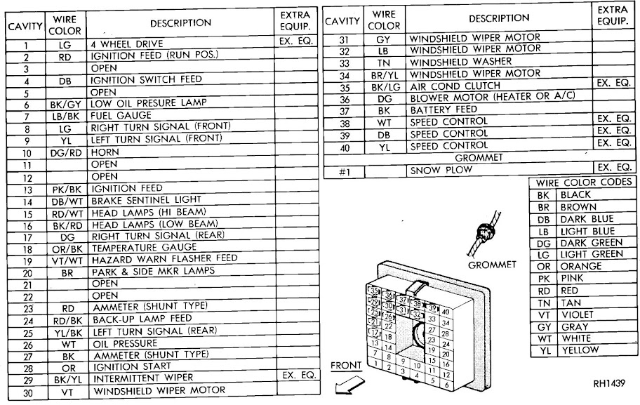 1985 dodge w150 wiring diagram