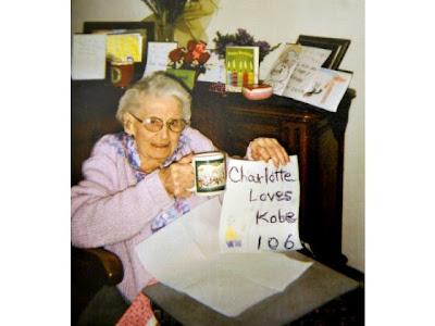 Charlotte Cross 106 year old Lakers fan