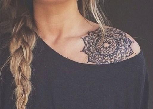 upper shoulder tattoos for girls