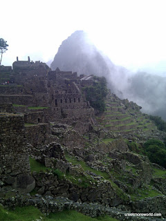 Wayna Picchu glows hauntingly in the background.