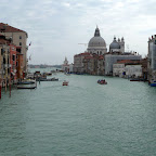 The grand canal opens into the bay.