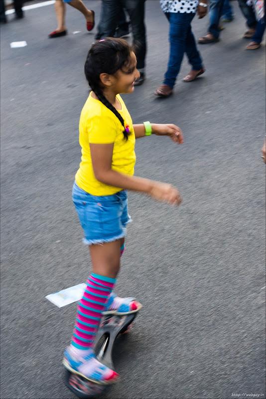 Kids enjoying the Free roads - Open Streets, MG Road