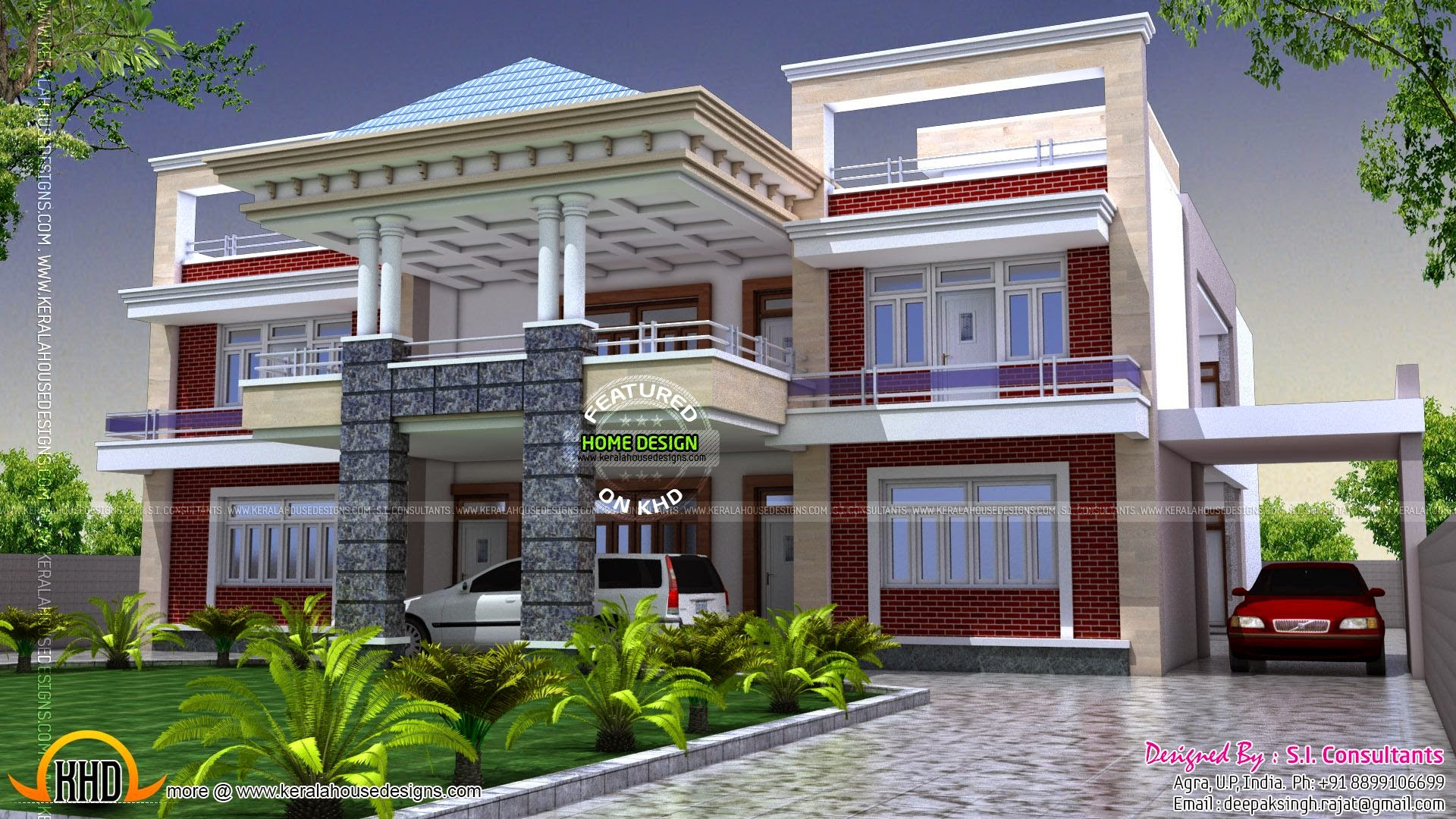 India Homes Design North Indian Luxury House Kerala Home Design And Floor Plans