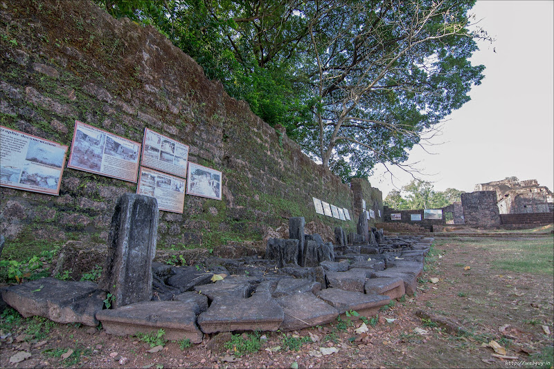 Stones from the fallen sections of the Church - St Augustine Church, Old Goa