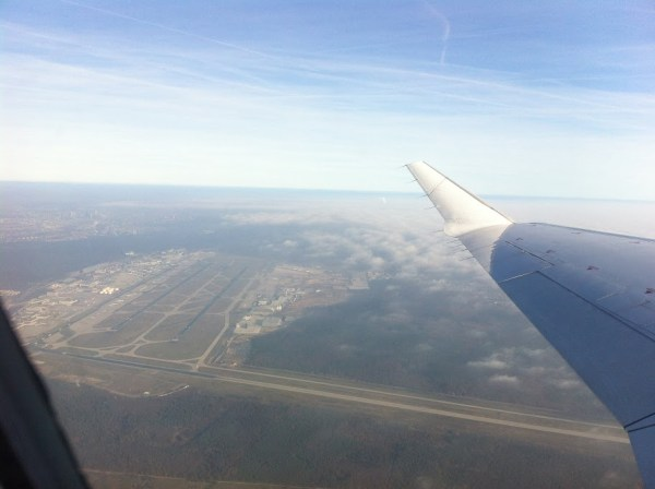 Letzter Blick auf den Flughafen Frankfurt. 30 Minuten später landete ich in Münster/Osnabrück