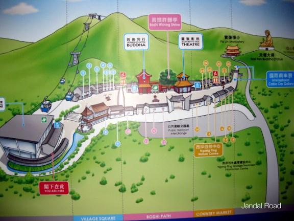 Map of Ngong Ping