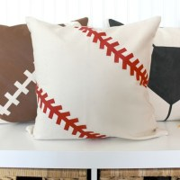 Ginger Snap Crafts: Stenciled Sports Pillow {tutorial}
