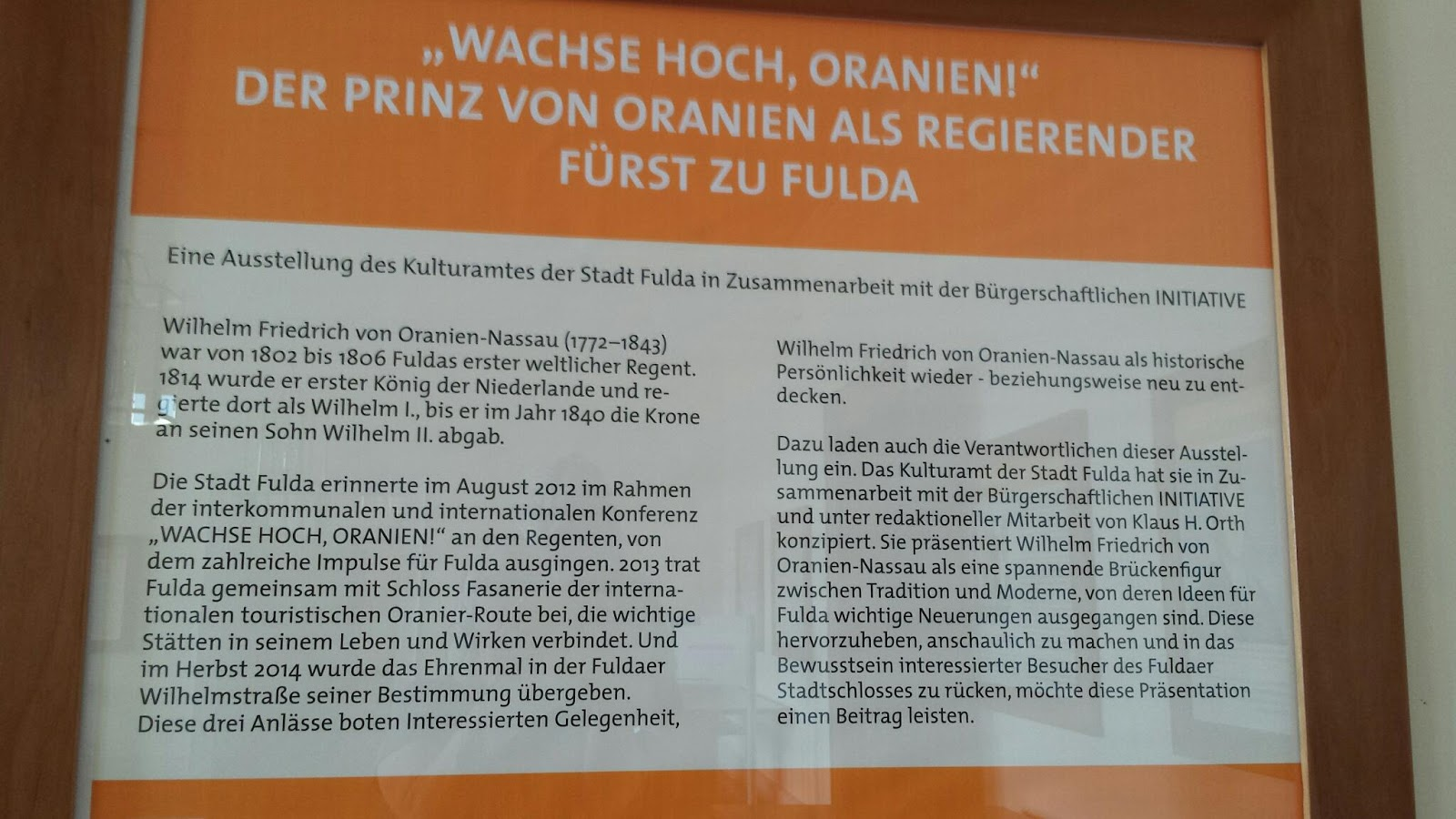 Bilder Rahmen Fulda Willhelm Of Orange In Fulda Joynjohannes