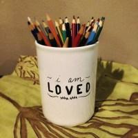 DIY Handlettered Ceramic Kitchen Utensil Holder - Blessed ...