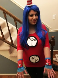 Small Of Thing 1 And Thing 2 Costume