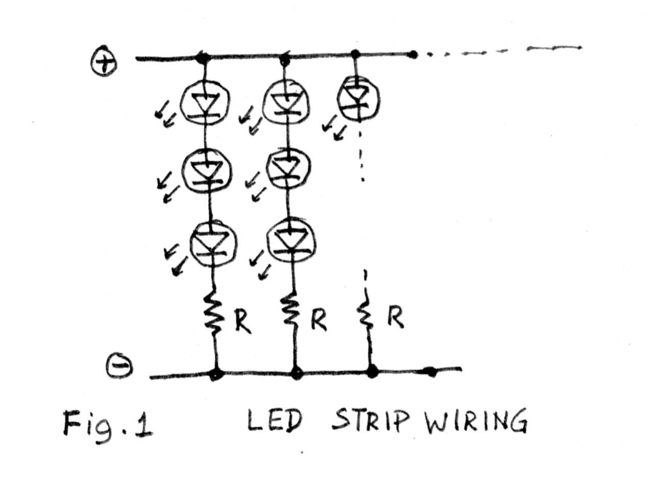 wiring led resistors in parallel