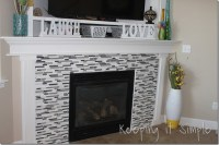 Fireplace Remodel with Mosaic Tiles  Keeping it Simple