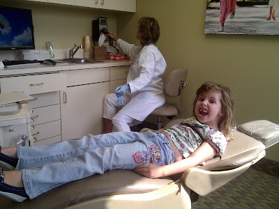 Lily at the orthodontist. lol