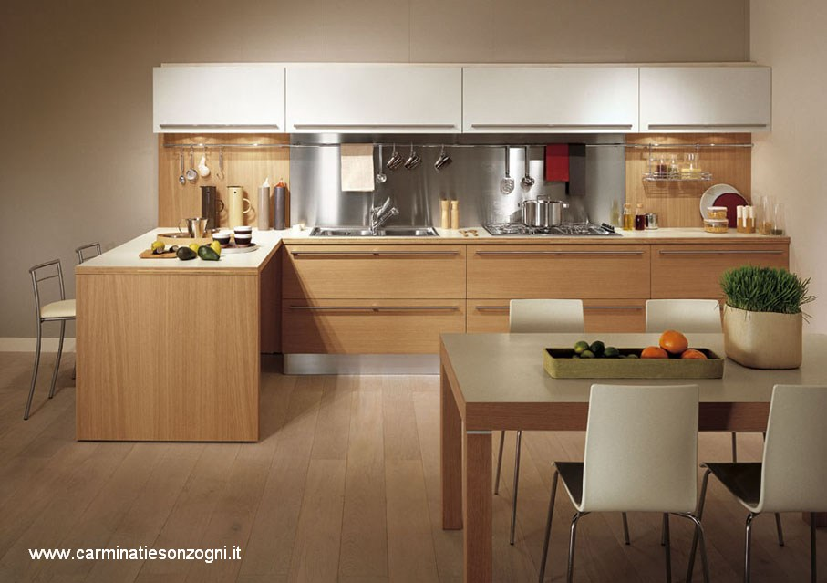 Cucina Moderna Rovere Sbiancato