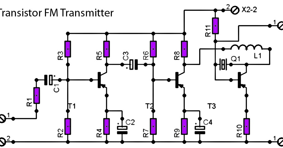 schematic diagram crystal radio