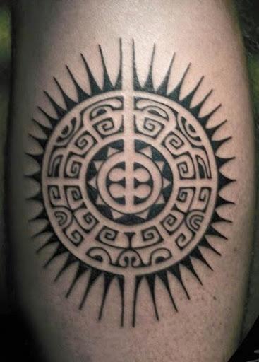 Polynesian sun tattoos