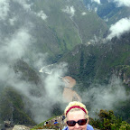 Sacred Valley behind Trish.
