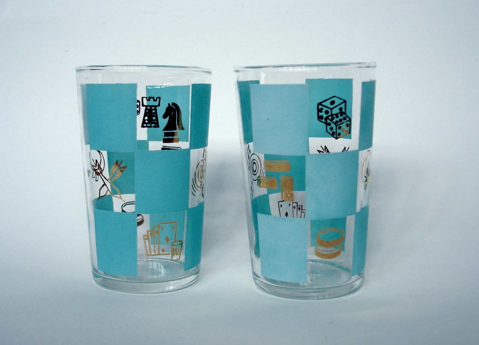 Cute Glassware Gypsyship Blue And Green