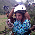 Emma filmed some great video of the zip lines.