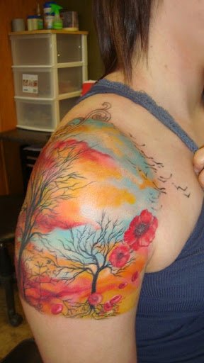 colorful Cloud tattoos
