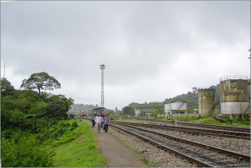 The tracks at Castle Rock - Doodhsagar Trek