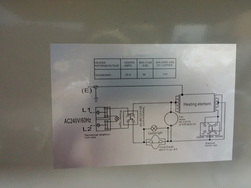 wall heater thermostat wiring diagram