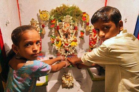 Rajesh and sister
