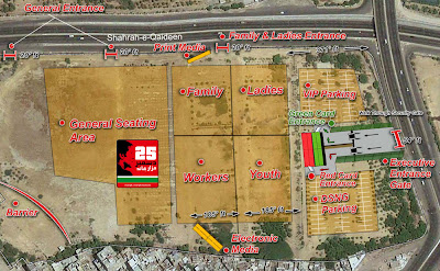 PTI Jalsa Ground Map
