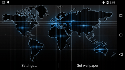 Black Map Live Wallpaper - Android Apps on Google Play