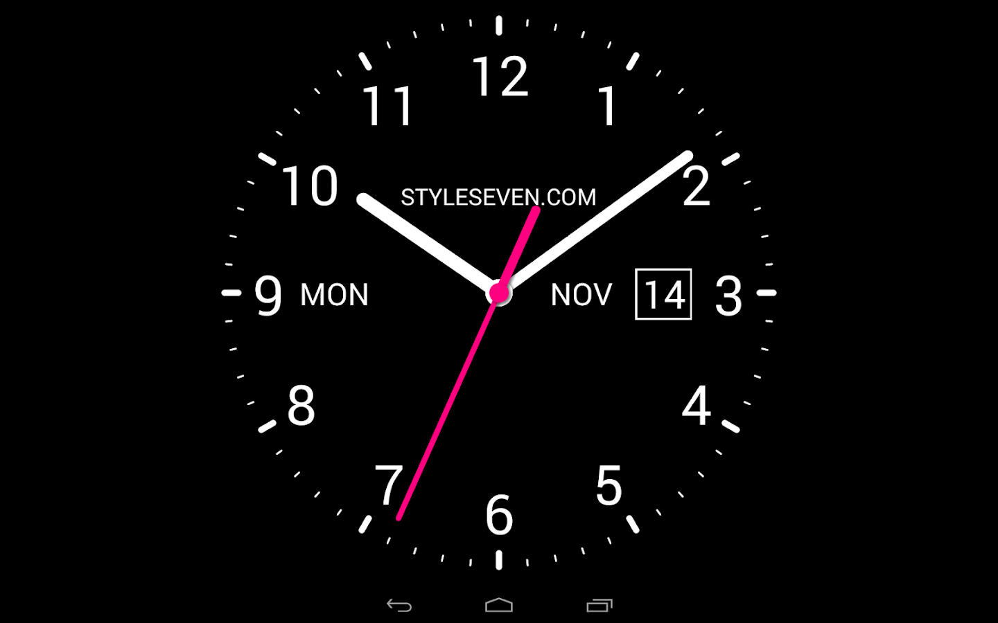Stylish Digital Clock Analog Clock Live Wallpaper 7 Android Apps On Google Play