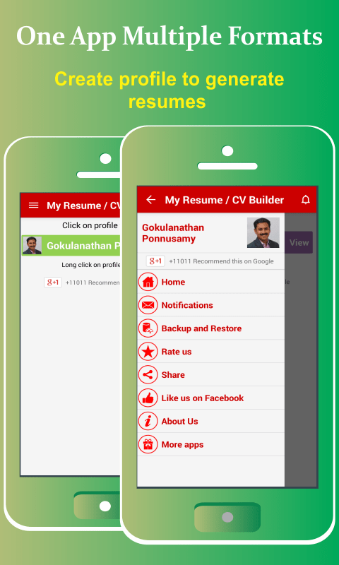 resume builder for android phone