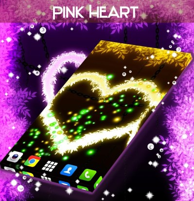 Pink Heart Live Wallpaper - Android Apps on Google Play