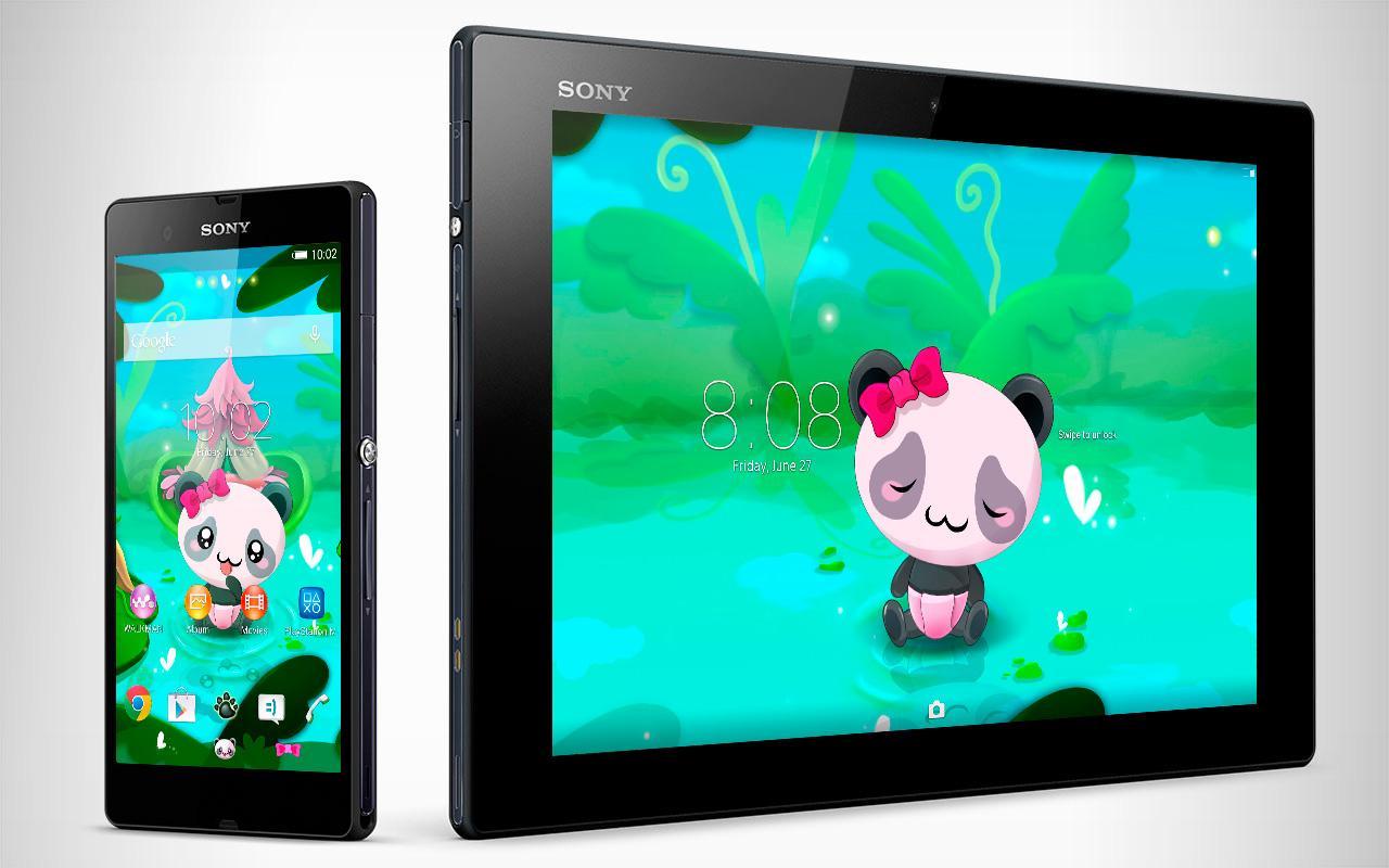 Xperia panda theme screenshot