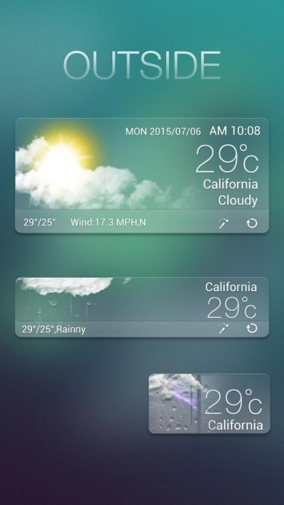 Outside GO Weather Widget - Android Apps on Google Play