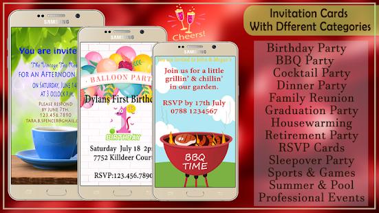 party invitation maker app