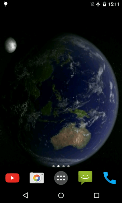 Earth and Moon Live Wallpaper - Android Apps on Google Play