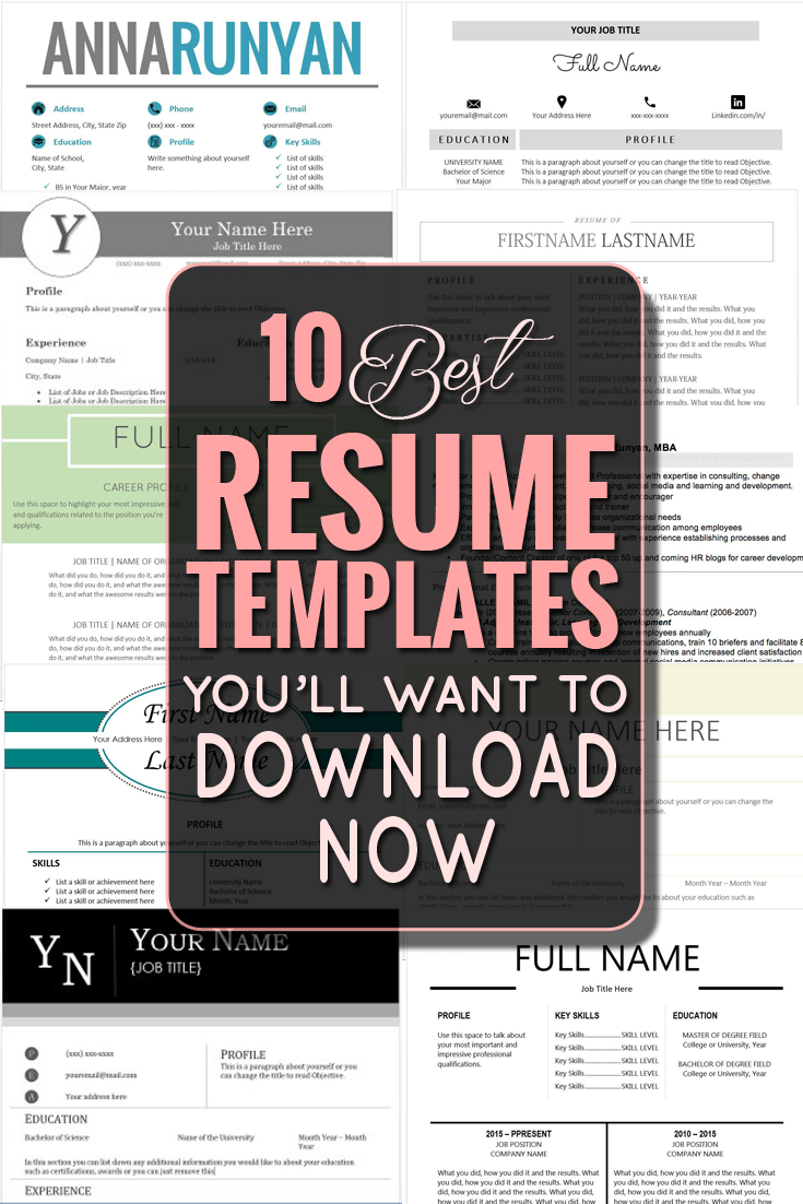 top 10 resume templates download