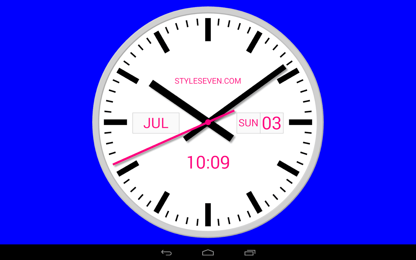 Stylish Digital Clock Swiss Analog Clock 7 Android Apps On Google Play