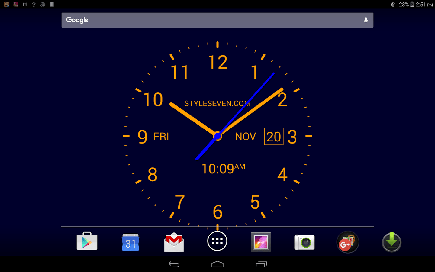 Stylish Digital Clock Analog Clock Livewallpaper7pro Android Apps On Google Play