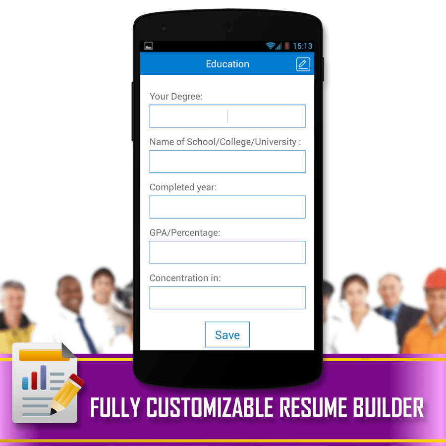 resume builder google play