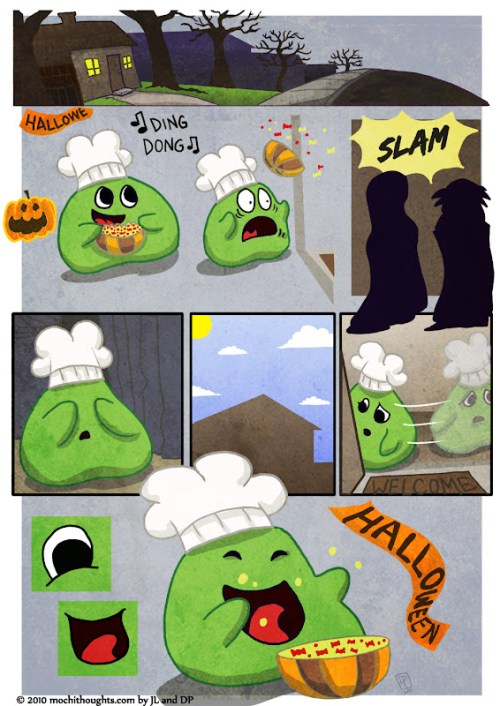Mochi's Halloween Scare