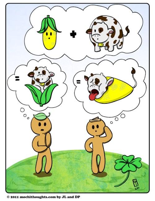 Cute Food Comic with Corned Beef