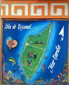 Mural map of Cozumel