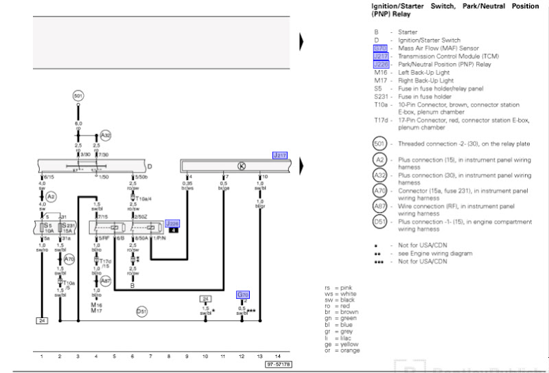 wiring diagram for 99 audi a4