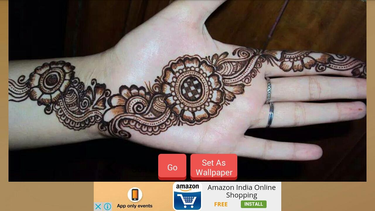 Latest mehndi designs 2017 screenshot