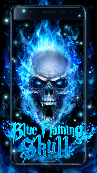 Blue Fire Skull Live Wallpaper - Android Apps on Google Play