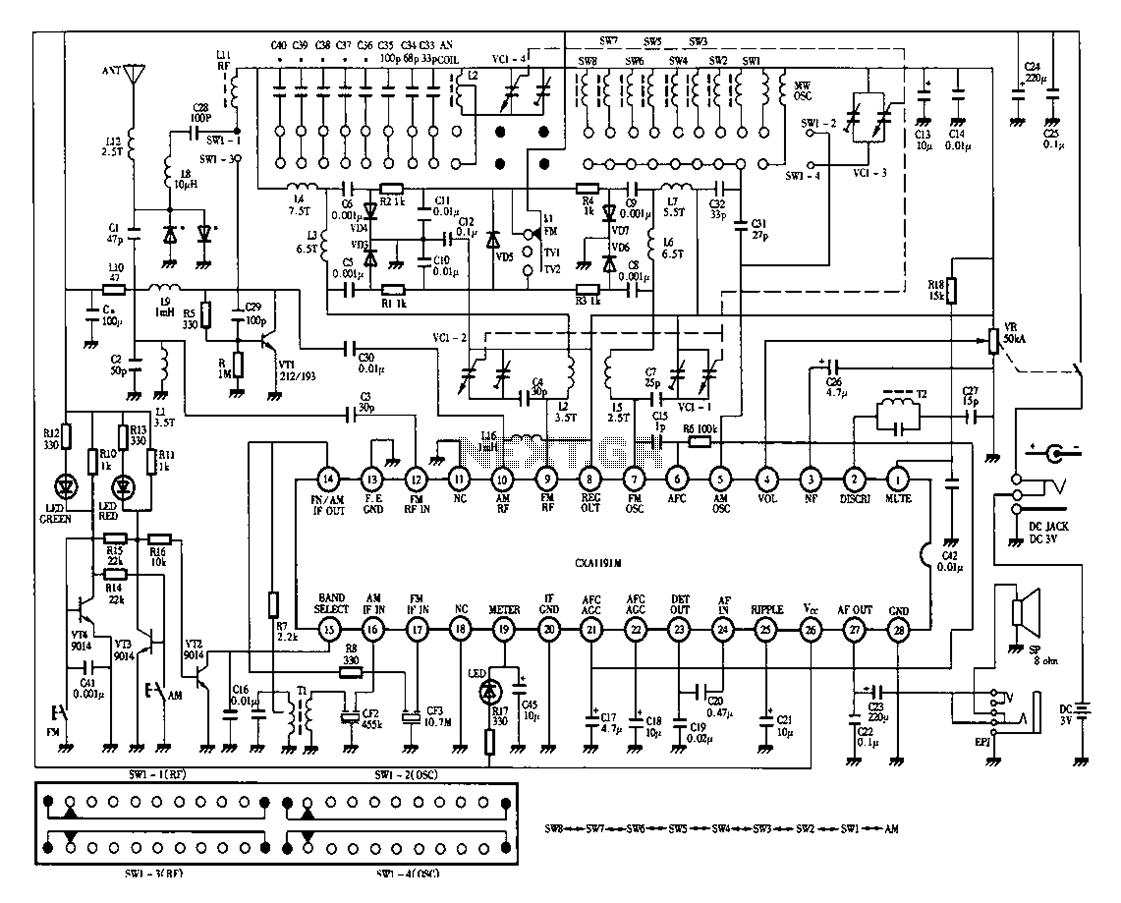 crt tv power diagram