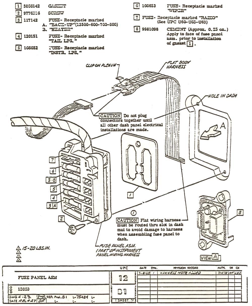 1967 firebird fuse box wiring diagram
